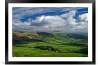 Hope Valley & Great Ridge                       , Framed Mounted Print
