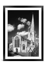 The Church of St Mary and All Saints, Chesterfield, Framed Mounted Print