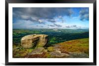 Hope Valley from Bamford Edge                     , Framed Mounted Print