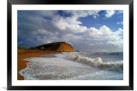 Stormy Sea at West Bay                       , Framed Mounted Print