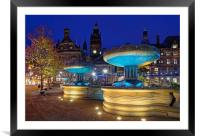 Sheffield Town Hall & Entrance to Peace Gardens   , Framed Mounted Print