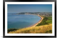 Swanage from Ballard Down                     , Framed Mounted Print