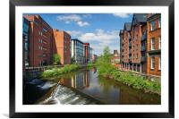 Lady's Bridge & River Don, Sheffield              , Framed Mounted Print