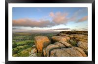 Standing on the Edge of the World, Framed Mounted Print