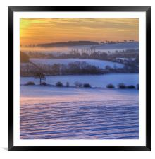 Winter Glow, Framed Mounted Print
