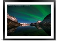 Aurora Reflections, Framed Mounted Print