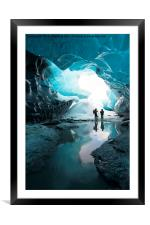 The Crystal Cave , Framed Mounted Print