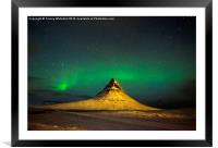 Aurora over the Sorting Hat, Framed Mounted Print