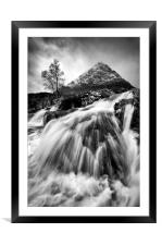 Winter at the Buachaille, Framed Mounted Print