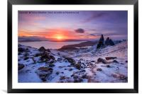 Winter at the Storr , Framed Mounted Print