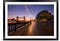 Southbank Sunrise, Framed Mounted Print