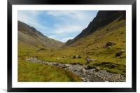 Honister Pass Cumbria, Framed Mounted Print