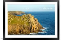Carn Boel Headland, Framed Mounted Print