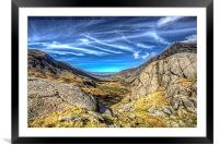 Nant Ffrancon Pass, Framed Mounted Print