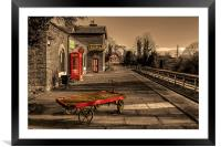 Hadlow Road disused Railway Station, Framed Mounted Print