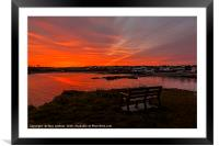 Sunrise Cemaes Bay, Anglesey, Framed Mounted Print
