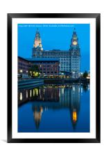 Liverpool - News at Ten, Framed Mounted Print