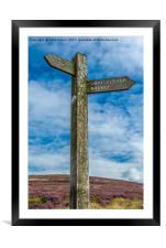 Goyt Valley Signpost, Framed Mounted Print