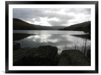 talybont reservoir, Framed Mounted Print