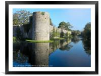 BISHOPS PALACE WALL MOAT WELLS, Framed Mounted Print