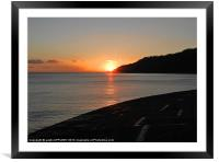 WINTER SUNSET FROM THE COBB, Framed Mounted Print