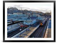 SCOTRAIL TRAIN AT STIRLING STATION, Framed Mounted Print
