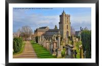 HOLY RUDE CHURCH STIRLING, Framed Mounted Print