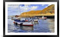 LYNMOUTH HARBOUR DEVON, Framed Mounted Print
