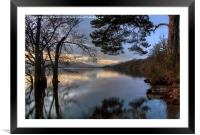 Last Light At Loch Lomond , Framed Mounted Print