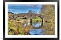 Two Bridges Old Bridge Dartmoor, Framed Mounted Print