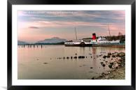 Maid Of The Loch Paddle Steamer, Framed Mounted Print
