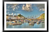 Ilfracombe Harbour North Devon, Framed Mounted Print