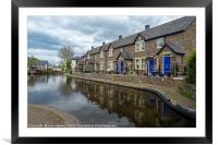 Down by the Canal, Framed Mounted Print