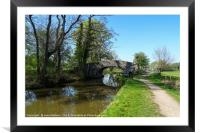 Bridge over the Canal, Framed Mounted Print