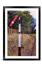 Railway Signal, Framed Mounted Print