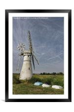 Thurne Dyke Mill and Boats, Framed Mounted Print
