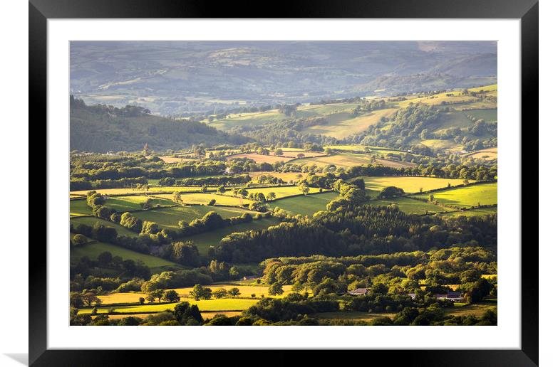 Buy Framed Mounted Prints of Black Mountain farmland by Leighton Collins