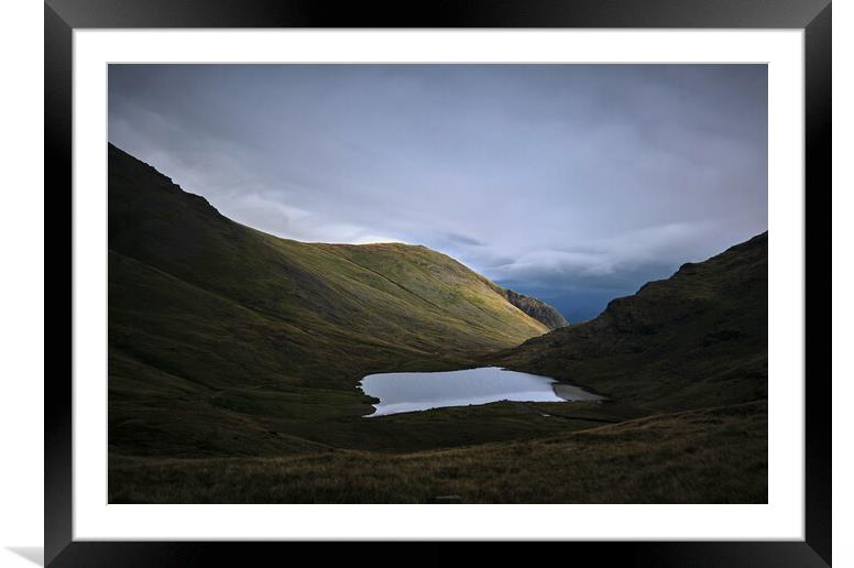 Buy Framed Mounted Prints of Light around the corner, Styhead Tarn, The Lake District by Dan Ward