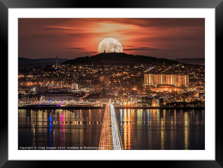 Buy Framed Mounted Prints of Dundee Super Moon  by Craig Doogan