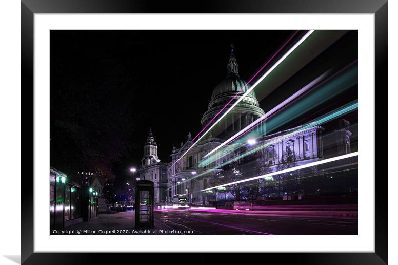 Buy Framed Mounted Prints of St Paul's Cathedral At Night by Milton Cogheil