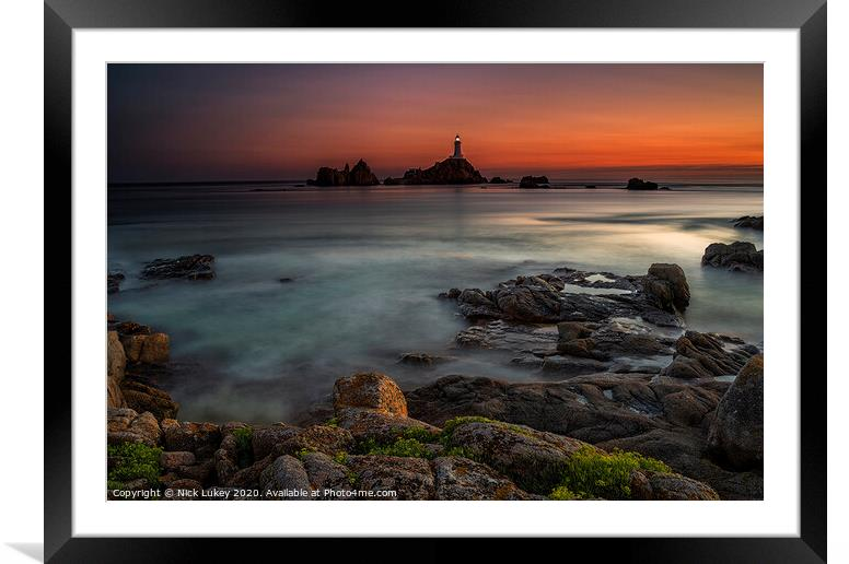 Buy Framed Mounted Prints of Le Corbiere Lighthouse Island of Jersey by Nick Lukey