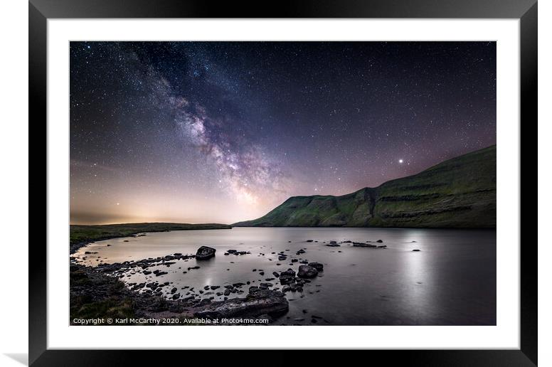 Buy Framed Mounted Prints of The night sky above Llyn y Fan Fach by Karl McCarthy