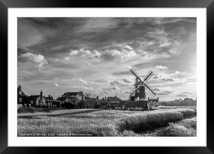 Buy Framed Mounted Prints of Cley next the Sea  Norfolk  by Jim Key
