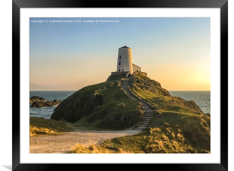 Buy Framed Mounted Prints of Llanddwyn Island Lighthouse Anglesey  by Angharad Morgan