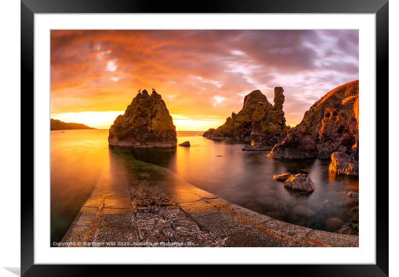 Buy Framed Mounted Prints of Pettico Wick Sunset by Northern Wild