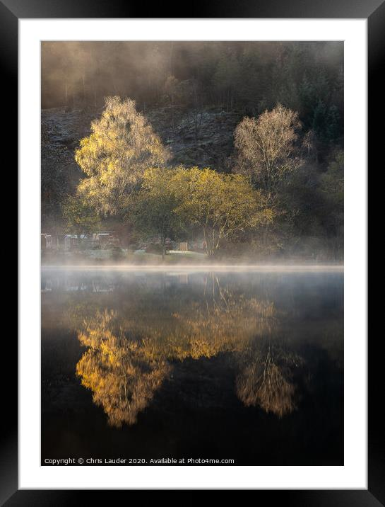 Buy Framed Mounted Prints of Misty Autumn at Loch Ard, Trossachs by Chris Lauder