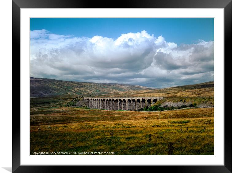 Buy Framed Mounted Prints of Ribblehead Viaduct, Yorkshire Dales  by Gary Sanford