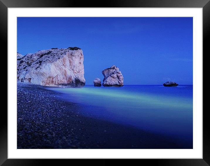 Buy Framed Mounted Prints of Aphrodites Blues by Finan Fine Art Prints