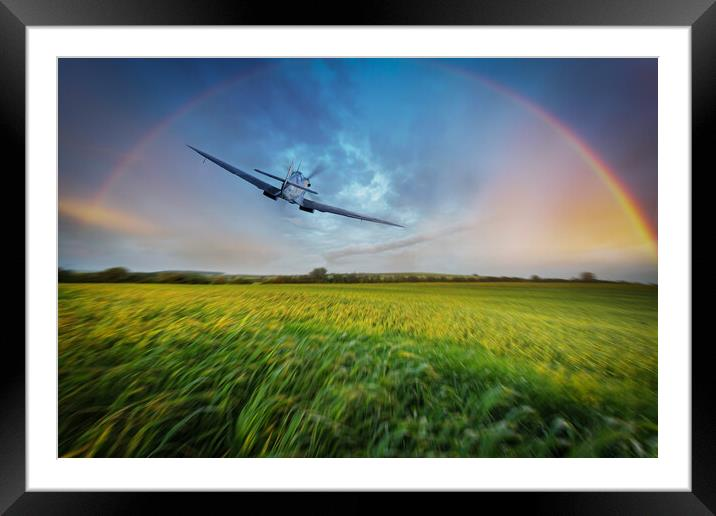 Buy Framed Mounted Prints of Spitfire Recon by J Biggadike