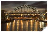 Dusk over the Tyne, Print